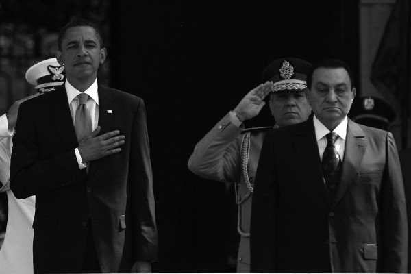 Egyptian President Hosni Mubarak and Barak Obama