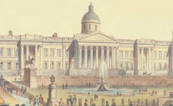 A Victorian depiction of the Nation Gallery London