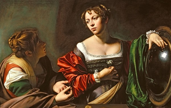 'Martha and Mary Magdalene' by Caravaggio (c1598)