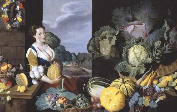 Nathaniel Bacon, Cookmaid with Vegetables (c. 1620-5)