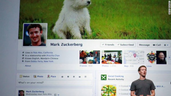 Mark Zuckerberg introduces Facebook Timeline