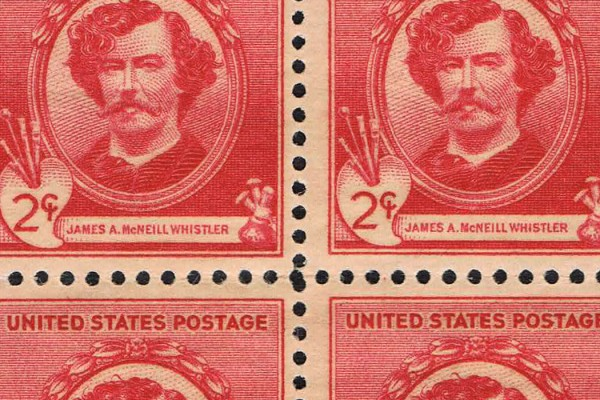 James Whistler artist stamp featured