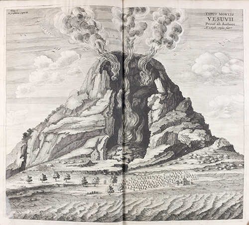 Cutaway illustration of Vesuvius