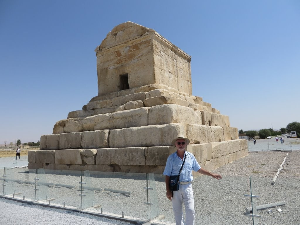 Richard Stoneman at Pasargadae
