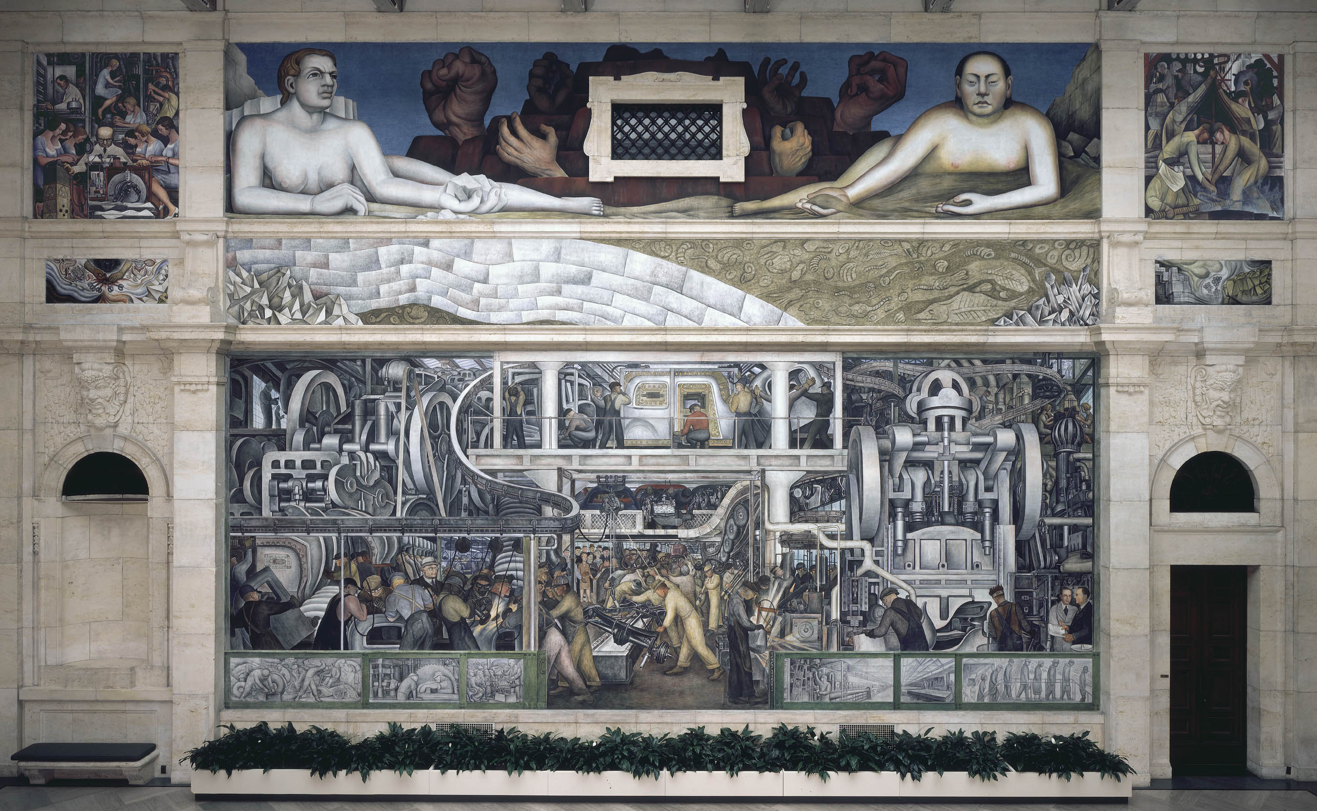 Diego rivera and frida kahlo in the motor city interview for Diego rivera mural detroit