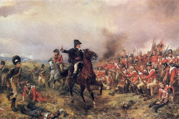 Wellington at Waterloo by Robert Alexander Hillingford