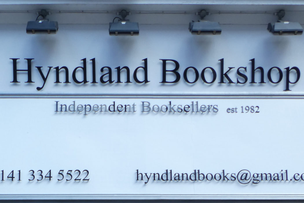 The Hyndland Bookshop sign