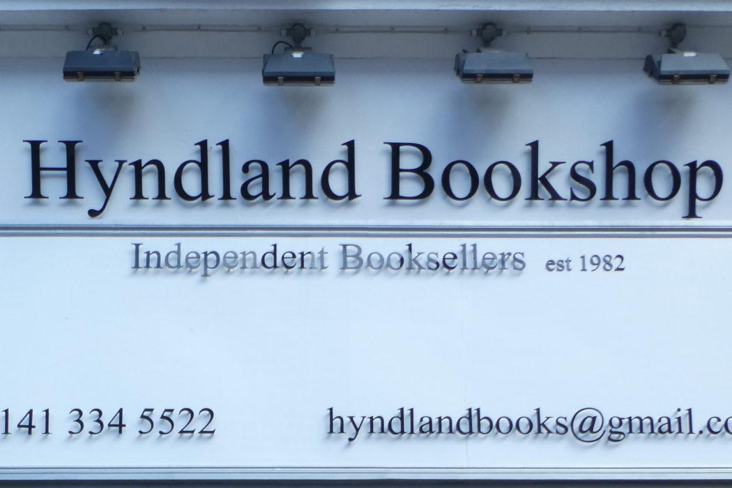 The Hyndland Bookshop sign