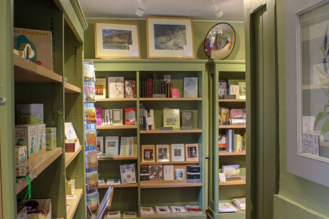 Wide shot of Brantwood House Bookshop