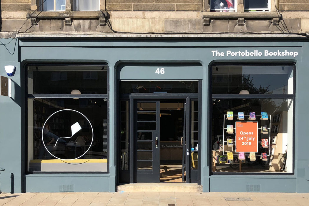 The exterior of The Portobello Bookshop