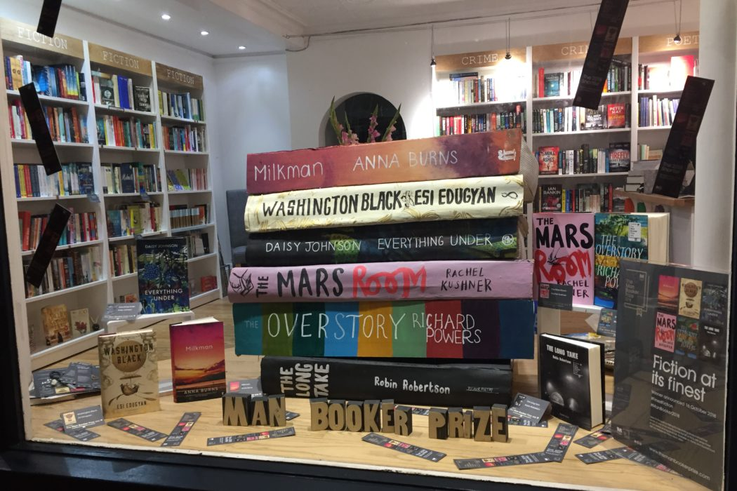 Man Booker Prize Window Display at the Little Ripon Bookshop