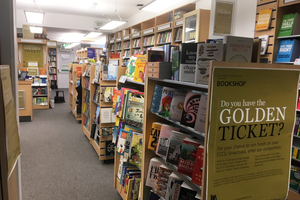 Inside Canterbury Christ Church Bookshop