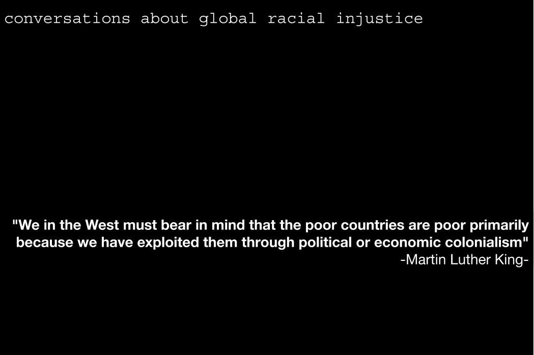 Conversations About Global Racial Injustice