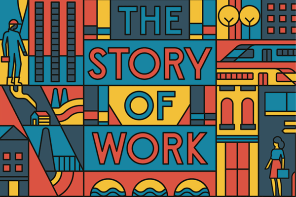 The Story of Work cover detail - decorative